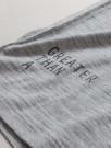 GREATER THAN A - CURVE WOOL TEE LS CREW GREY MEL thumbnail