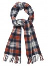 GANT - HERRINGBONE CHECK SCARF LIGHT GREY MELANGE  thumbnail