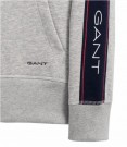 Gant - Archive Stripe Sweat Hoodie Grå thumbnail