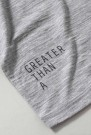 GREATER THAN A - CURVE WOOL TEE CREW GREY MEL thumbnail