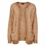 SELECTED FEMME - KAILA KNIT SHORT CARDIGAN CAMEL MELANGE