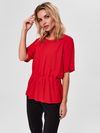 Selected Femme - Tanna Ss Top True Red