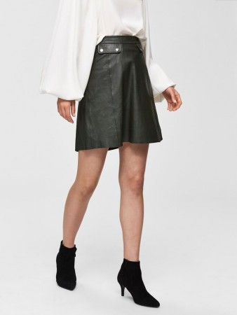 Selected Femme - Mina Hw Leather Skirt
