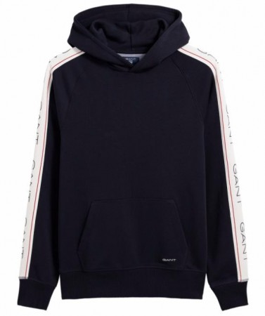 Gant Evening Blue Genser Archive Stripe Sweat Hoodie