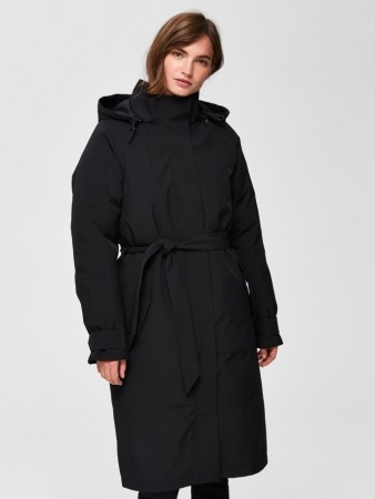Selected Femme - Rasini Tech Coat Black