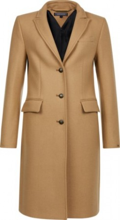 TOMMY HILFIGER - BELLE CLASSIC WOOL COAT CAMEL