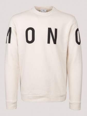 GREATER THAN A - A NET CREW MONO OFF-WHITE