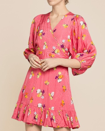byTimo - Delicate Wrap Dress Rosa