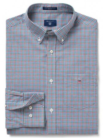 GANT - THE BROADCLOTH THREE-COLOR GINGHAM SMOKED PAPRIKA SKJORTE
