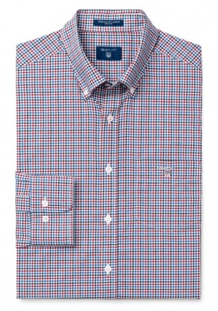 GANT - THE BROADCLOTH THREE-COLOR GINGHAM RHODHODENDRON SKJORTE