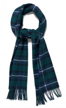 GANT _ CHECKED LAMBSWOOL SCARF JUNE BUG