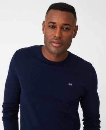 Lexington - Bradley Crew Neck Sweater Dark Blue