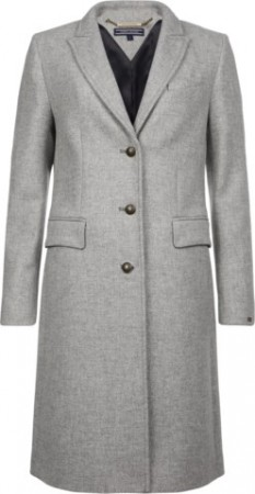 TOMMY HILFIGER - BELLE CLASSIC WOOL COAT GREY HTR
