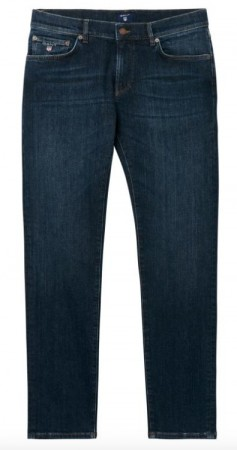 GANT - SLIM STRAIGHT JEANS DARK BLUE WORN IN