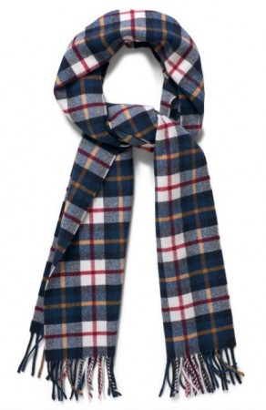 GANT _ CHECKED LAMBSWOOL SCARF CREAM