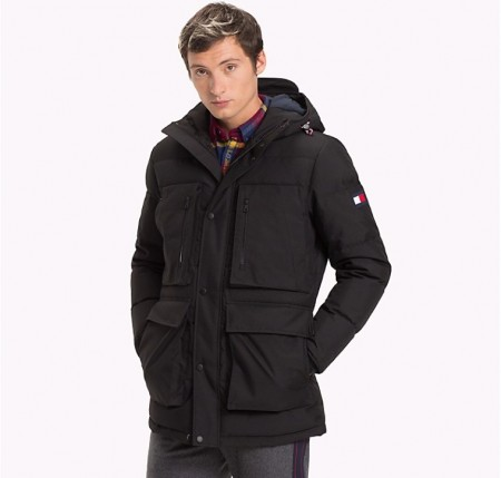 TOMMY HILFIGER - HEAVY CANVAS DOWN PARKA BLACK