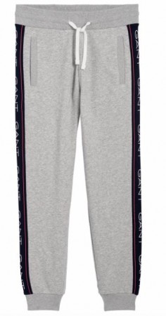 Gant - Archive Stripe Sweat Pant Light Grey Melange